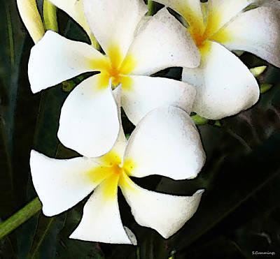 Buy Digital Art - Tropical Life - Flower Painting by Sharon Cummings