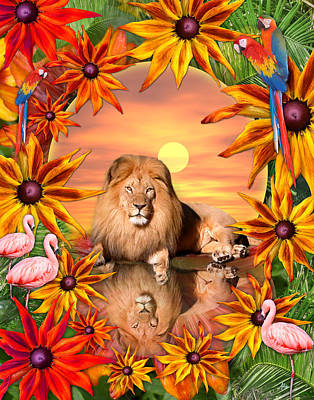 Alixandra Mullins Photograph - Tropical Lion by Alixandra Mullins