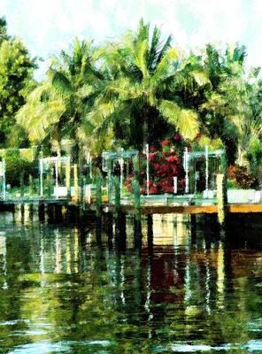 Mixed Media - Tropical Living by Florene Welebny