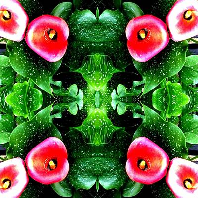 Photograph - Tropical Lush-us Abstract by Marianne Dow
