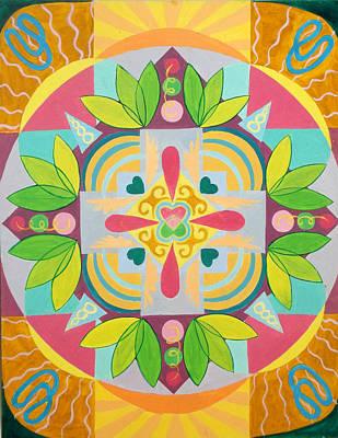 Religious Painting - Tropical Mandala by Anne Cameron Cutri