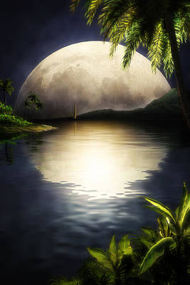 Tropical Moon Original by John Robichaud