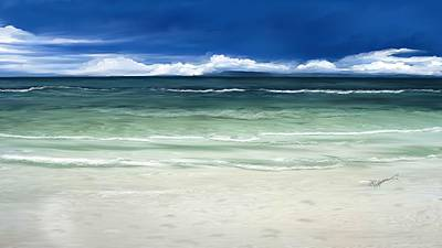Art Print featuring the digital art Tropical Ocean by Anthony Fishburne