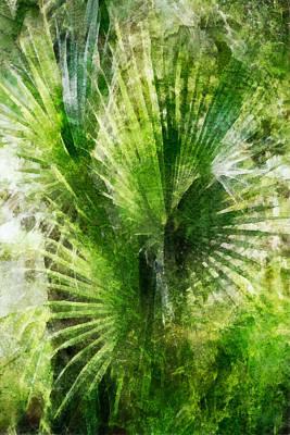 Digital Art - Tropical Palm Grunge by Francesa Miller