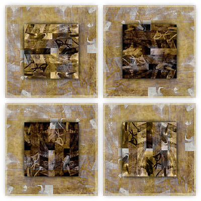 Montage Photograph - Tropical Panel Four Up by Carol Leigh
