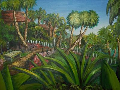 Colourfull Painting - Tropical Paradise by Chris Shepherd