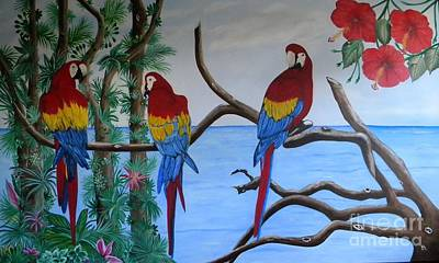Painting - Tropical Paradise by Iris  Mora