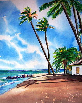 Painting - Tropical Paradise by Kathy Flood