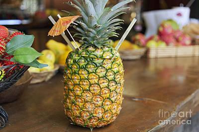 Tropical Pineapple Drink Art Print by Brandon Tabiolo
