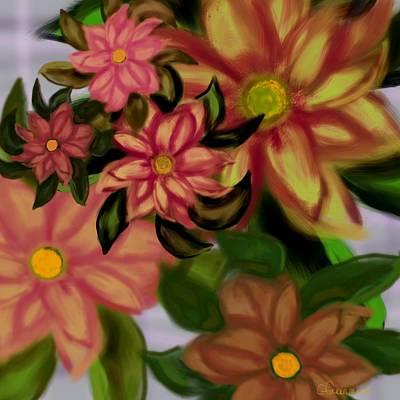 Tropical Plaid Art Print by Christine Fournier