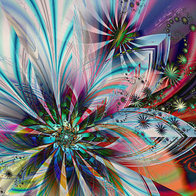 Digital Art - Tropical Plumage by Kiki Art