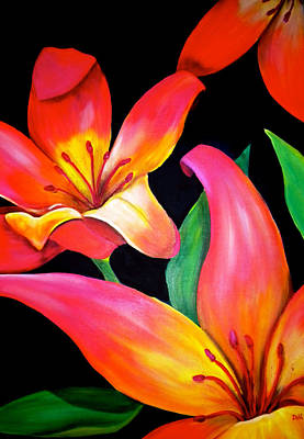 Large Flower Painting - Tropical Punch by Debi Starr