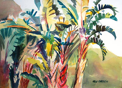 Bananas Painting - Tropical Punch by Kris Parins