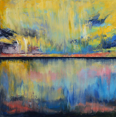 Abstract Beach Painting - Tropical Rain by Michael Creese