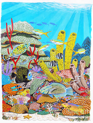 Tropical Reef Art Print by Carey Chen