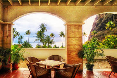 Photograph - Tropical Resort View by Carolyn Derstine