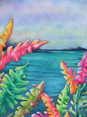 Chrisann Painting - Tropical Scene by Chrisann Ellis