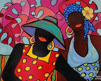 Painting - Tropical Sisters by Deborah Glasgow