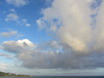 Photograph - Tropical Sky With Clouds by Anita Burgermeister