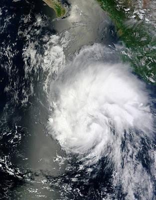 Tropical Storm Hernan Print by Nasa Goddard Modis Rapid Response Team