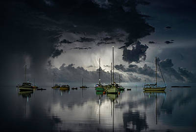 Lightning Wall Art - Photograph - Tropical Storm2 by Alexandru Popovski