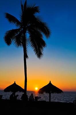 Tropical Summer Sunset Art Print