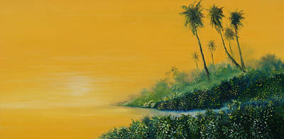 Painting - Tropical Sunrise by David Kacey
