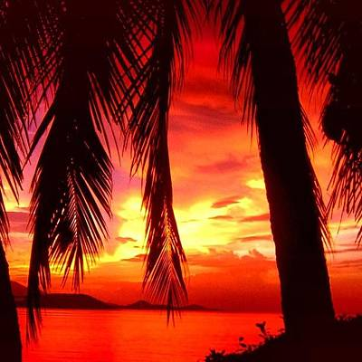 Landscapes Photograph - Tropical Sunset - Thailand by Luisa Azzolini