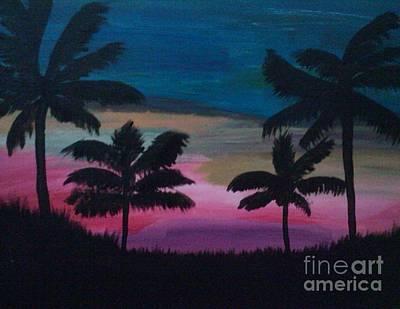 Tropical Sunset Art Print by Krystal Jost