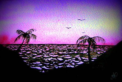 Painting - Tropical Sunset by Nieve Andrea