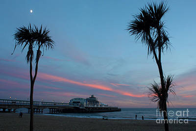 Photograph - Tropical Sunset Over Bournemouth Pier by Terri Waters