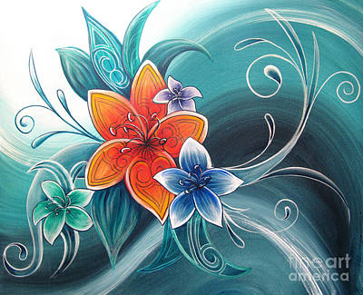 Fauna Painting - Tropical Tahi by Reina Cottier