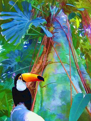 Digital Art - Tropical Toucan by Kathleen Holley