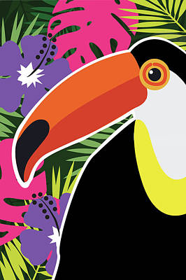 Toucan Painting - Tropical Toucan by Nd Art & Design