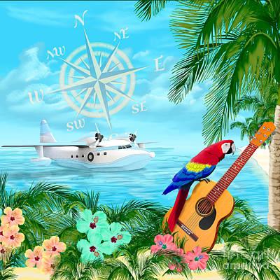 Albatross Digital Art - Tropical Travels by Chris MacDonald