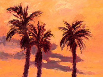 Painting - Tropical Trees by J Reifsnyder