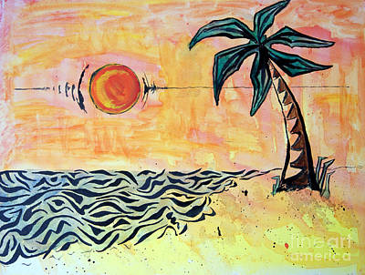 Painting - Tropical Tribal by Michael Rados