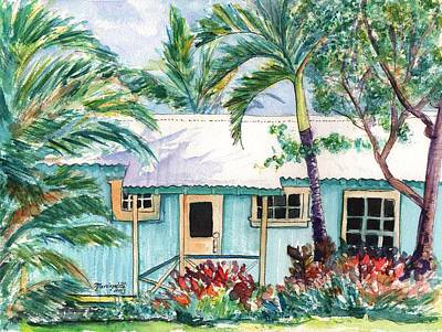 Tropical Vacation Cottage Art Print by Marionette Taboniar