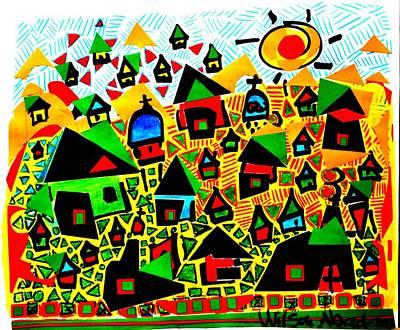Tropical Village Art Print