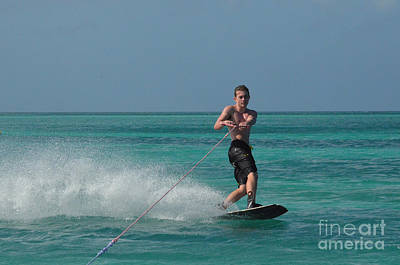 Wakeboarder Photograph - Tropical Wakeboarding by DejaVu Designs