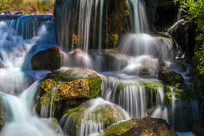 Lovely Lavender - Tropical Waterfall by Bill Gallagher