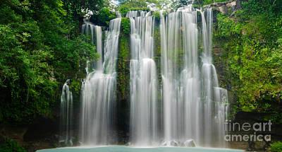 Tropical Waterfall Art Print by Oscar Gutierrez