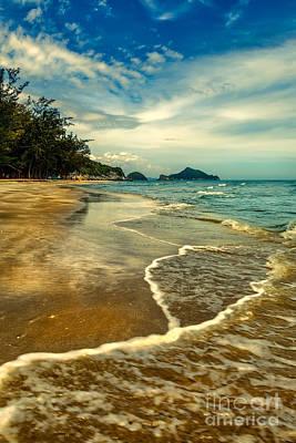 Coastline Digital Art - Tropical Waves by Adrian Evans