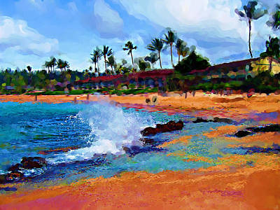 Hawaii Mixed Media - Tropical Waves by Carla G Art Nitkey