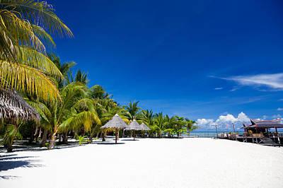 Tropical White Sand Beach Borneo Malaysia Art Print by Fototrav Print