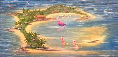 Painting - Tropical Windy Island Paradise by Duane McCullough