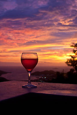 Sunset Photograph - Tropical Wine by Jared Shomo