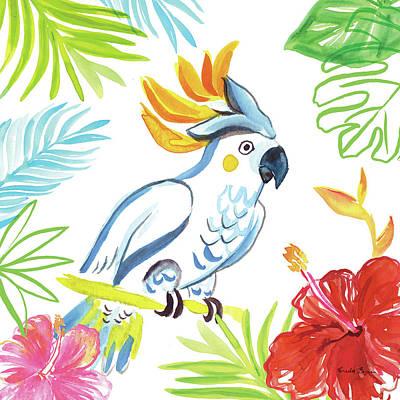 Cockatoo Wall Art - Painting - Tropicana I by Farida Zaman