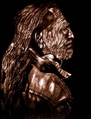 Willie Nelson Drawing - Troubadour by Herbert Renard