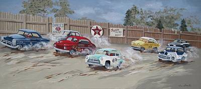 Texaco Sign Painting - Trouble In Turn Two by Jennifer  Donald